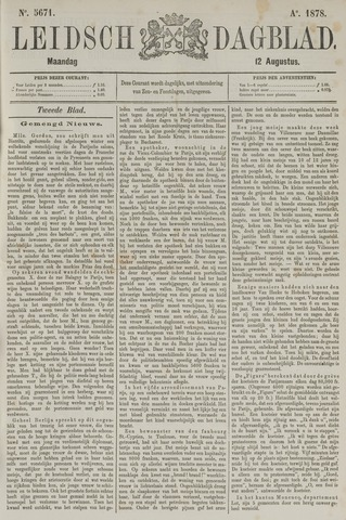 Leidsch Dagblad 1878-08-12