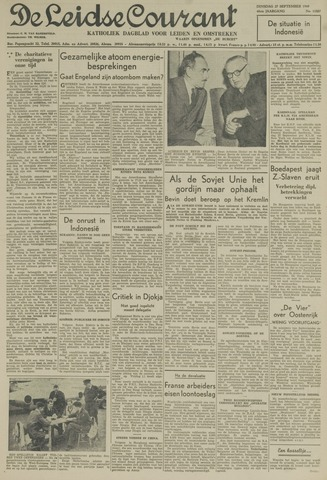 Leidse Courant 1949-09-27