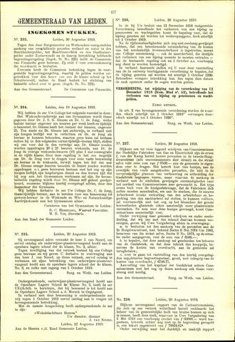 Handelingen van de Raad 1919-08-20