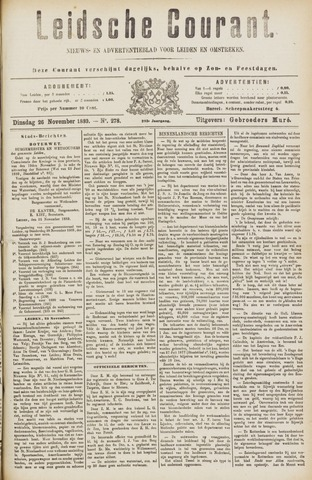 Leydse Courant 1889-11-26