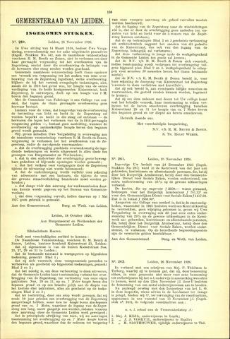 Handelingen van de Raad 1926-11-25