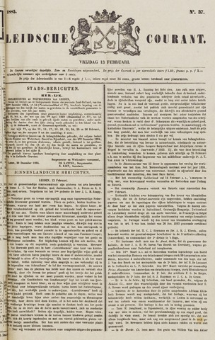 Leydse Courant 1885-02-13
