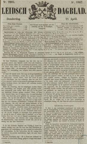 Leidsch Dagblad 1867-04-18
