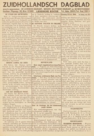 Zuidhollandsch Dagblad 1944-10-10