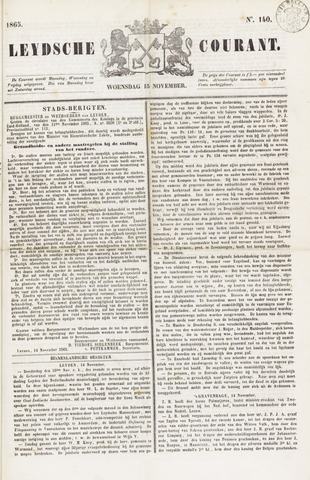 Leydse Courant 1865-11-15