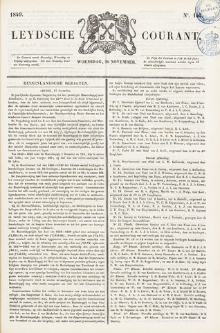 Leydse Courant 1849-11-28