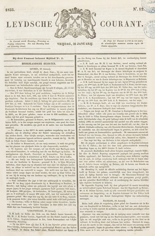 Leydse Courant 1855-01-26