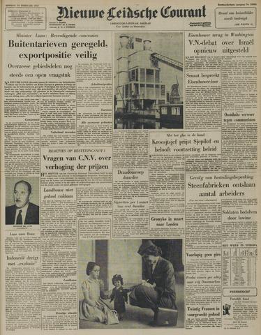 Nieuwe Leidsche Courant 1957-02-19