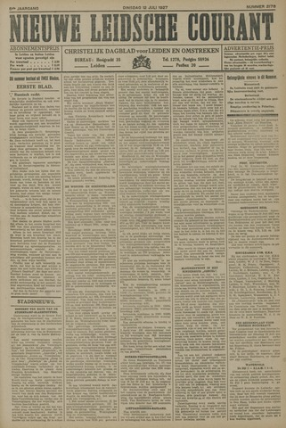 Nieuwe Leidsche Courant 1927-07-12