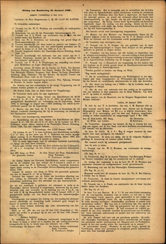 Handelingen van de Raad 1889-01-31