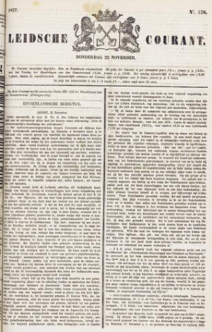 Leydse Courant 1877-11-22