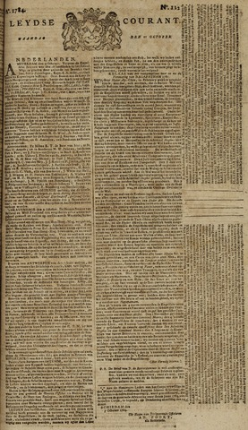 Leydse Courant 1784-10-11