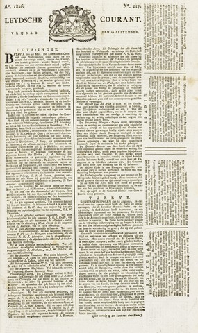 Leydse Courant 1826-09-29