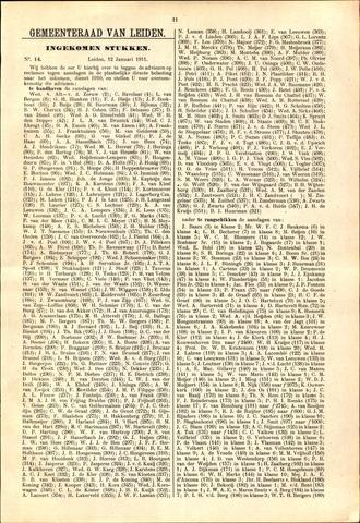 Handelingen van de Raad 1911-01-12