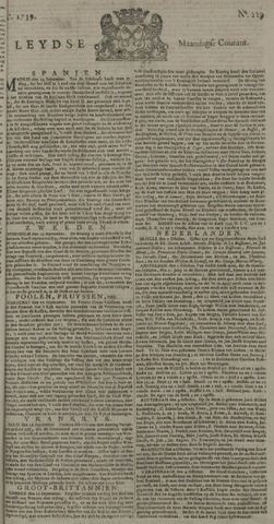 Leydse Courant 1739-10-05