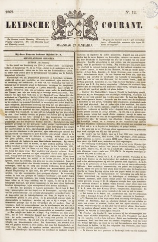 Leydse Courant 1862-01-27