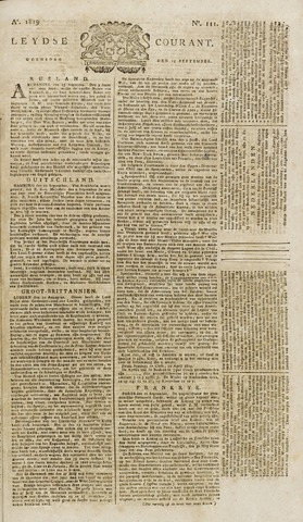 Leydse Courant 1819-09-15