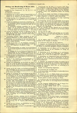Handelingen van de Raad 1911-03-09