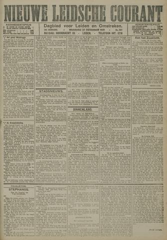 Nieuwe Leidsche Courant 1921-11-28