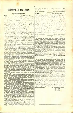 Handelingen van de Raad 1885-12-05
