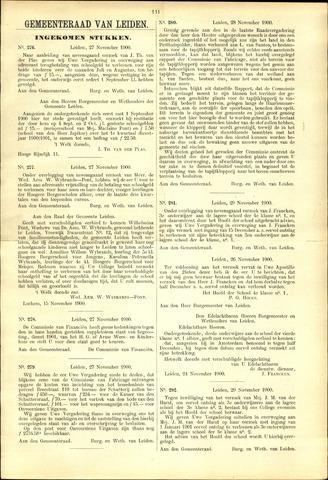 Handelingen van de Raad 1900-11-27