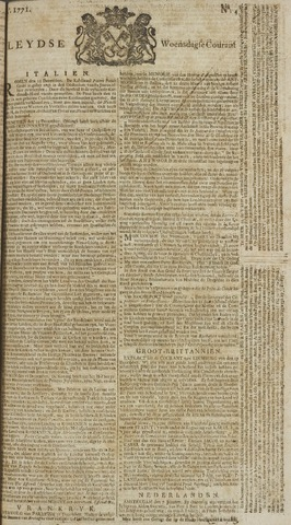 Leydse Courant 1771-01-09