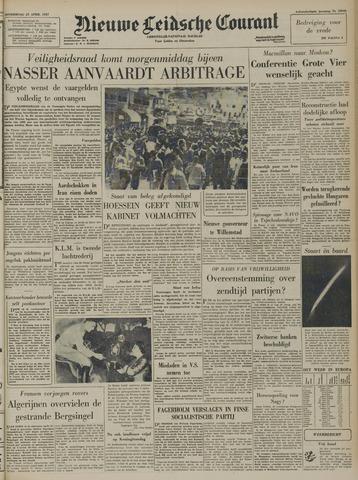 Nieuwe Leidsche Courant 1957-04-25