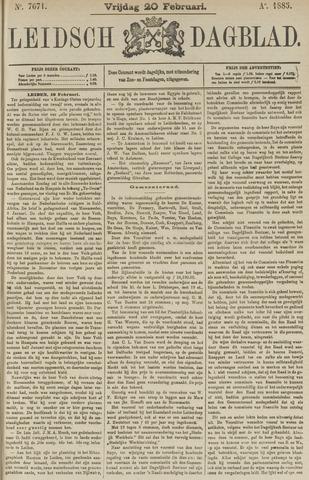 Leidsch Dagblad 1885-02-20