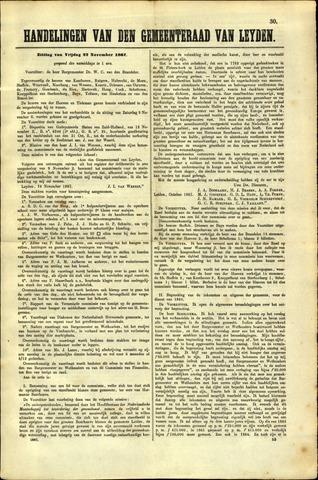 Handelingen van de Raad 1867-11-22