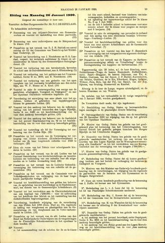Handelingen van de Raad 1920-01-26
