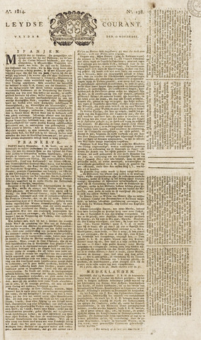 Leydse Courant 1814-11-18