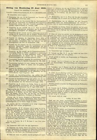 Handelingen van de Raad 1919-06-19