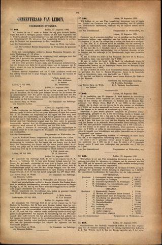 Handelingen van de Raad 1881-08-27