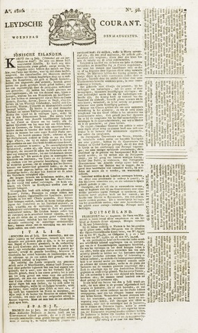 Leydse Courant 1826-08-16