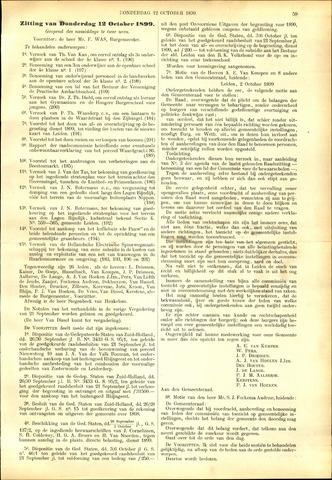 Handelingen van de Raad 1899-10-12