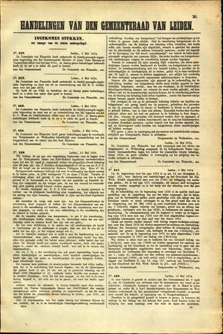 Handelingen van de Raad 1874-05-09