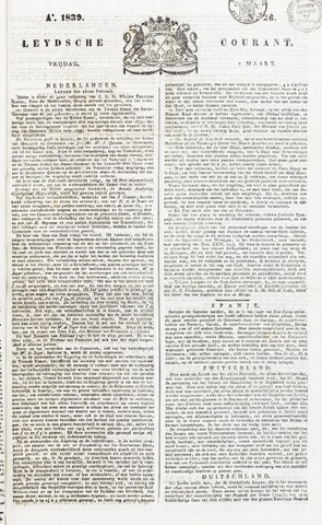 Leydse Courant 1839-03-01