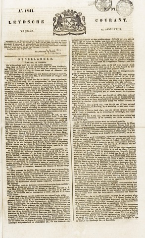 Leydse Courant 1841-08-13