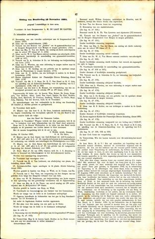 Handelingen van de Raad 1885-11-19