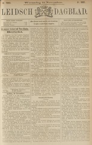 Leidsch Dagblad 1885-11-11