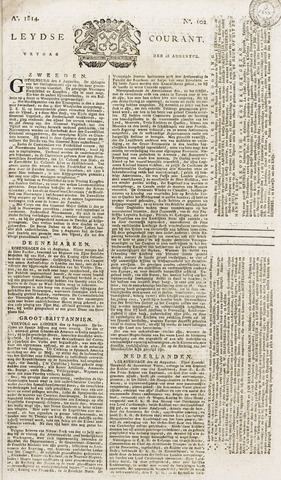 Leydse Courant 1814-08-26