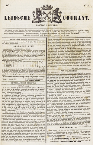 Leydse Courant 1871-01-09