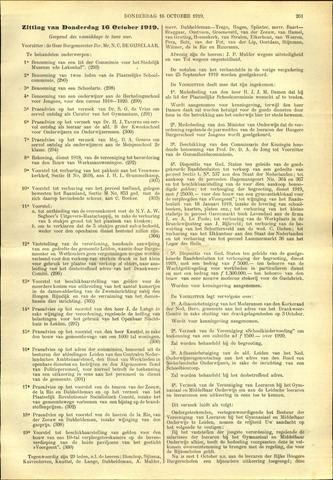 Handelingen van de Raad 1919-10-16