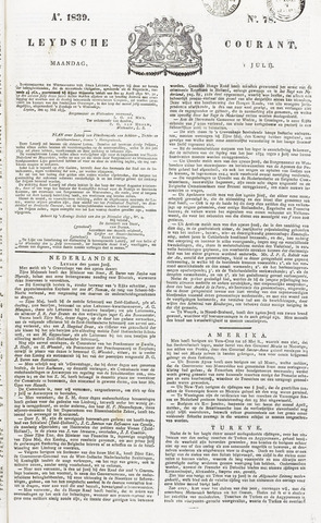 Leydse Courant 1839-07-01