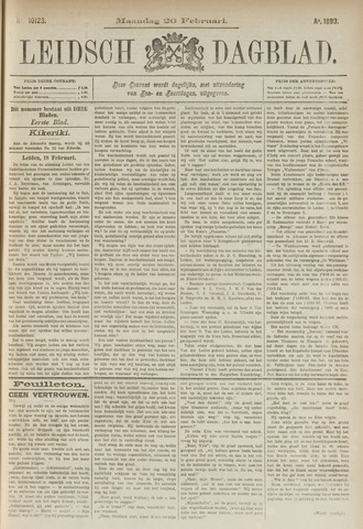 Leidsch Dagblad 1893-02-20