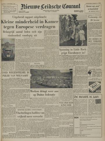 Nieuwe Leidsche Courant 1957-09-09