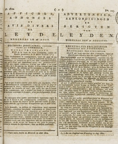 Leydse Courant 1812-08-26