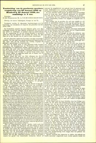 Handelingen van de Raad 1930-01-23
