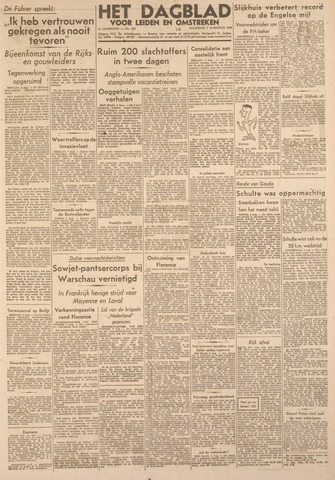 Dagblad voor Leiden en Omstreken 1944-08-07