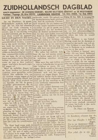 Zuidhollandsch Dagblad 1944-12-22